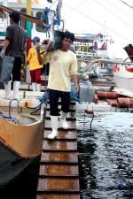 Mann, Fischer, Boot, Angeln, lokale, Fischerboot, ein Dock