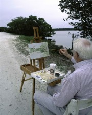 painting, arstist, paint, nature