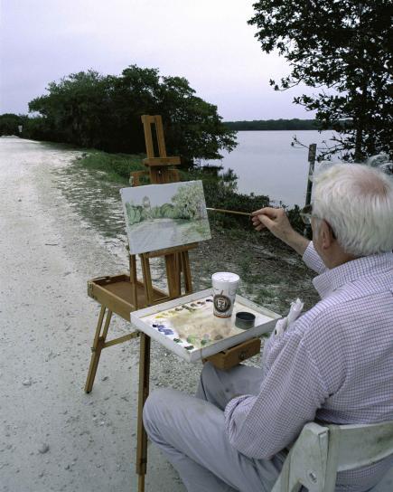 peinture, arstist, peinture, nature