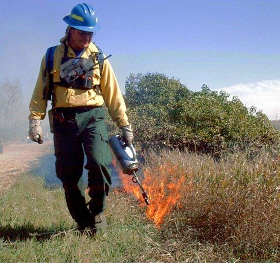 personálu, kontrolované, oheň