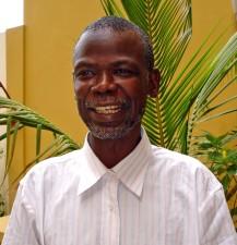 portrait, older African man, up-close, face