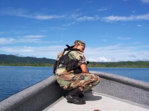 soldat, militare, barca