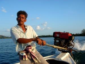 Тайланд, възстановяване, мъж, рибарски лодки