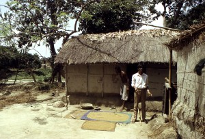 deux, bengali, les hommes, les habitants, le Bangladesh, le village