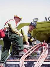 to, fire, reparasjon, brann, motor, pumpe, feriehus, lastebil