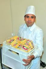 trabalhador, queijo, firma