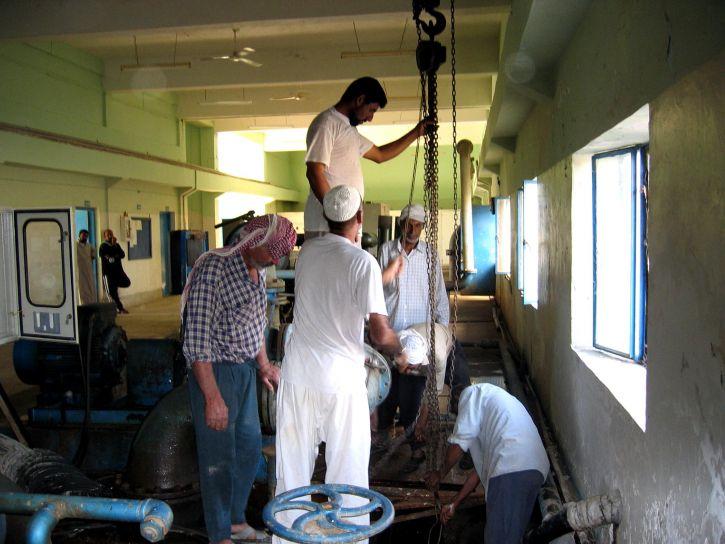 штат працівників, ремонт, насоси, уніфіковані, besrah, вода, лікування, завод, приладдя, вода