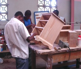 young men, skills, building, wood, cabinets, gain, employment, income