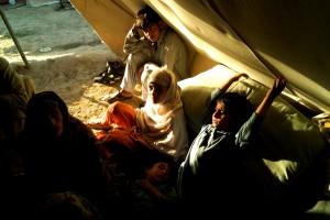 matka, pět, děti, Tábor, Pákistán