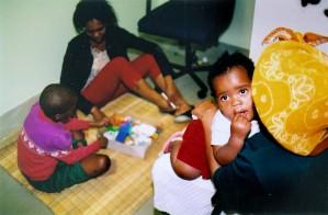 母親、遊び、子供