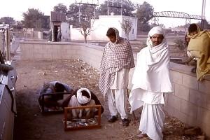 NiFe, colporteurs, affichage, marchandises, Gujranwala, à l'ouest, le Pakistan, le Pakistan