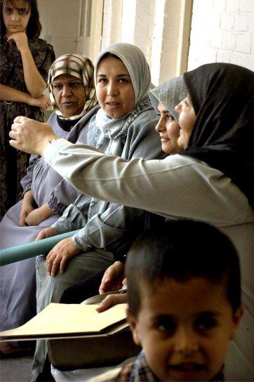patients, wait, Hajaj, health, clinic, one, four, clinics, Kirkuk