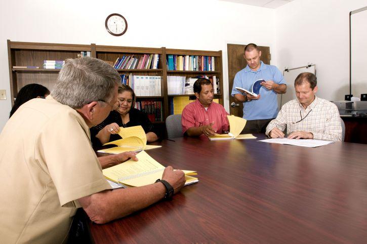 Leute, treffen, Lehr, campaignn, zentriert, Bildung
