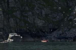 people enjoying, boat, ride, rocky, beach
