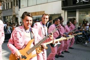 people, play, gitare, street