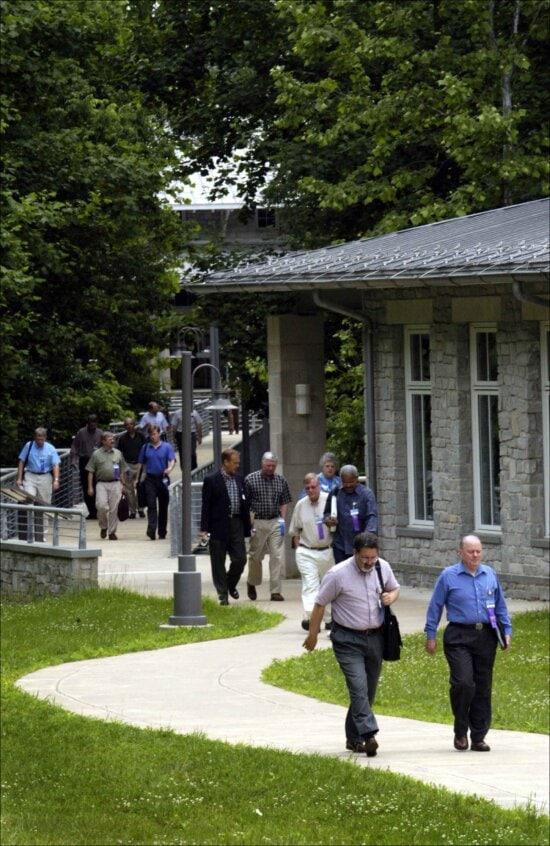 people, walking, campus