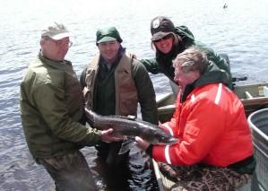 people, sturgeon, fish