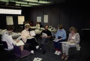 Menschen, Arbeit, klein, Gruppe, Büro