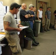 personnel, bureau, matin, briefing
