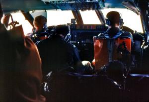 pilotes, avion, cabine, jet