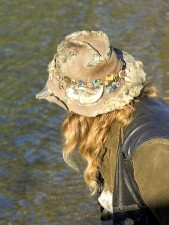 ピン、飾る、フィッシャー、帽子