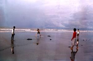 jeu, frisbee, côte, baie, Bengal