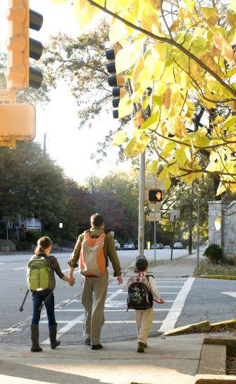 bezpečnější, pěší, zkušenosti, město, ulice