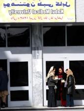 étudiants, le chat, dehors, Kaboul, université, médical, école