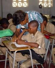 teacher, helping, student