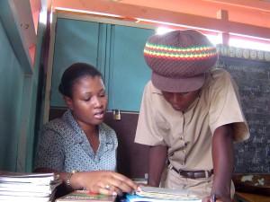 teacher, works, remedial, student, Margarets, human, resource, center, Kingston