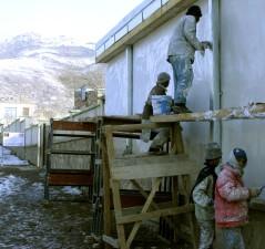 la escuela, la reconstrucción, Kabul