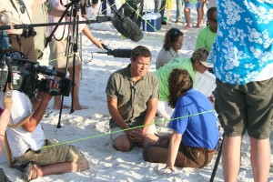 film, kru, menembak, Pantai