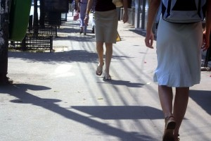 urban, streets, people, walking