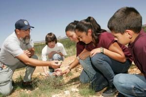 wolontariusz, nauczyciel, podwórku, Siedlisko, technika, studentów
