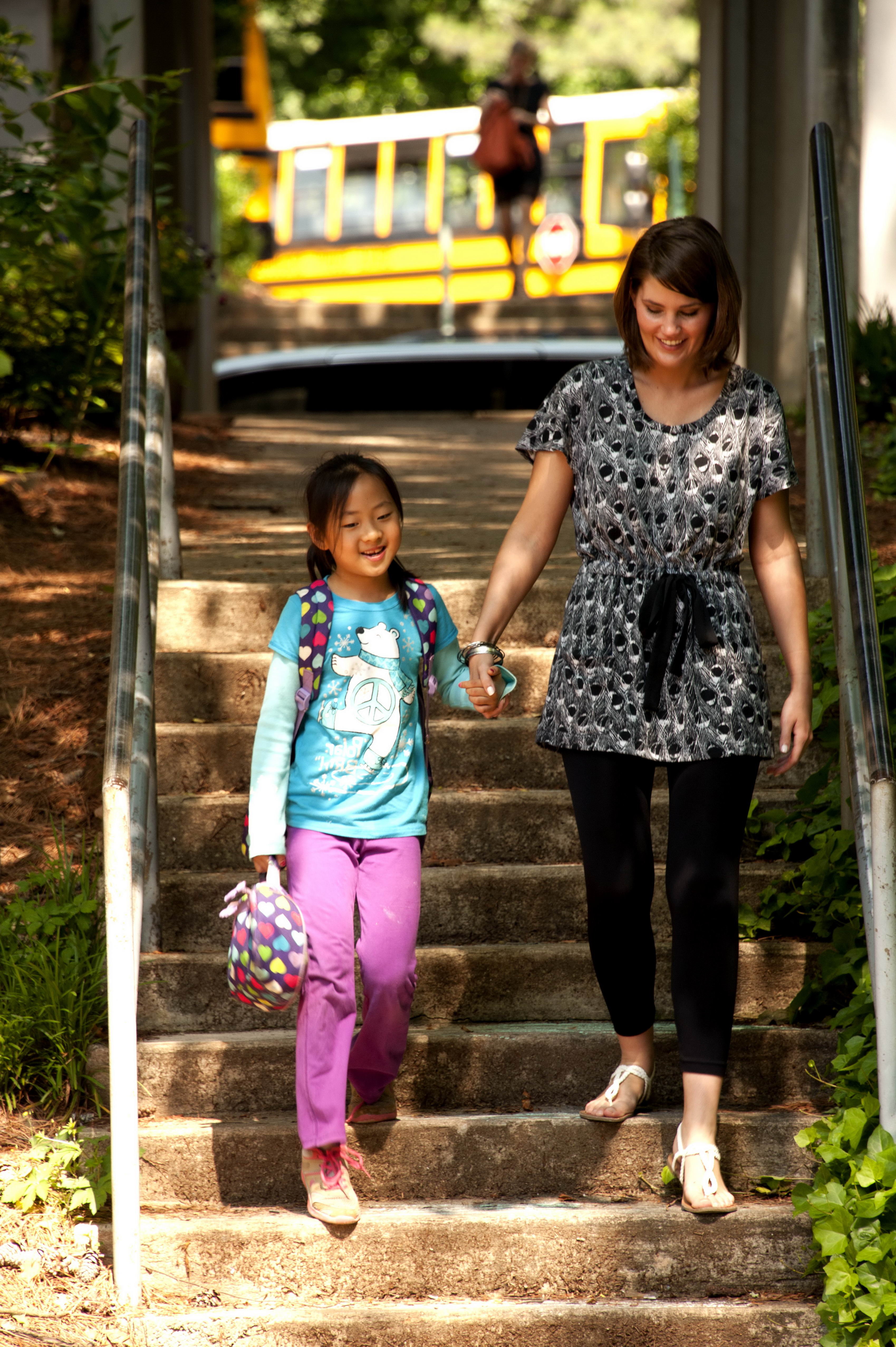 Free Picture Young, Asian, American, School Girl, Walking -3703