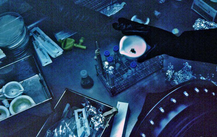 close-up, laboratorij, tehničar, rad