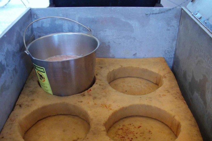 fertilized, eggs, buckets
