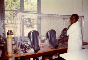 laboratoire, technicien, travail, Kenema, Sierra Leone, laboratoire