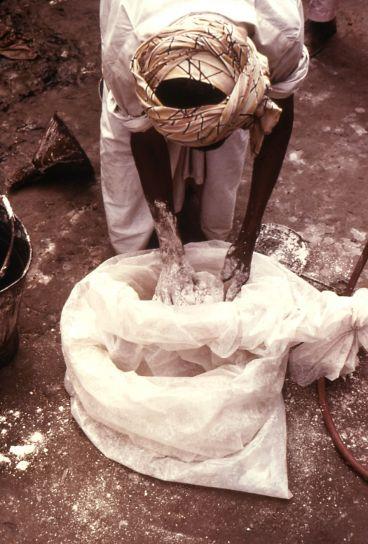 malarije, kontrola, radnik, miješanje, malation, sprej, puder, pokrivanje, izloženi, koža