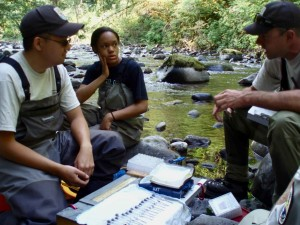 Vedci, biológovia, práca v teréne