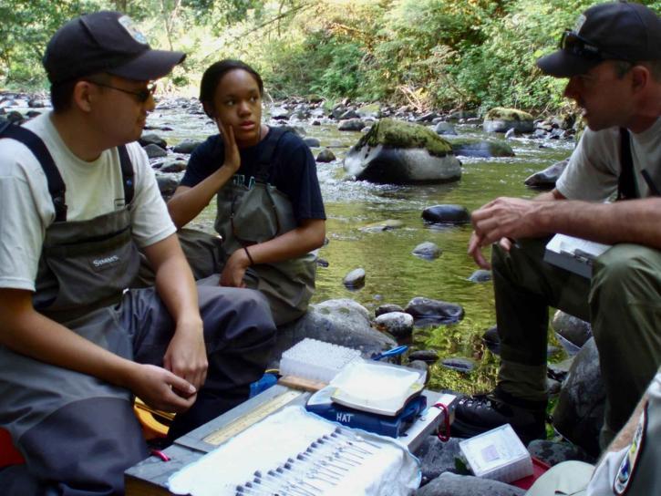 researchers, biologists, field work