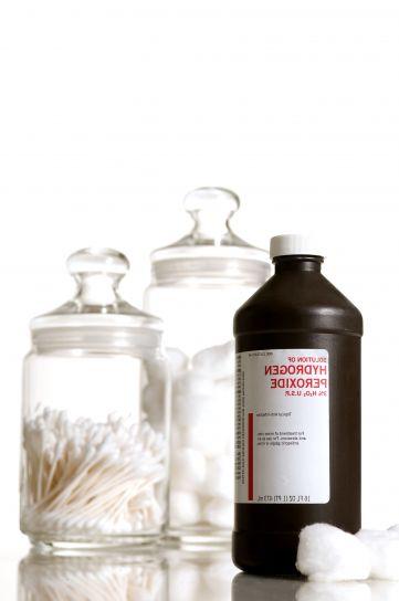 bottle, disinfectant, hydrogen, peroxide, H2O2