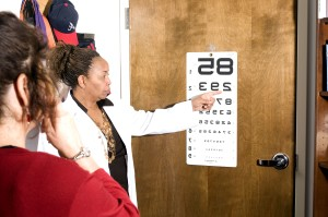 covering, eye, reading, door, mounted, eye, chart