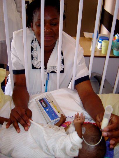 hoito, lääkäri, klinikka, baby, Lastentautien, lievittävä, hoito