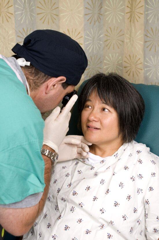 mata, pemeriksaan, dokter, ophthalmoscope
