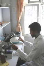 laboratoire médical, technicien, travail