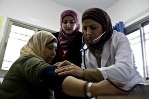 infirmière, communauté, clinique, le travail, les patients