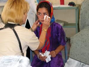 enfermeiras, médicos, assistente, Tratado, constante, fluxo, mulheres, crianças