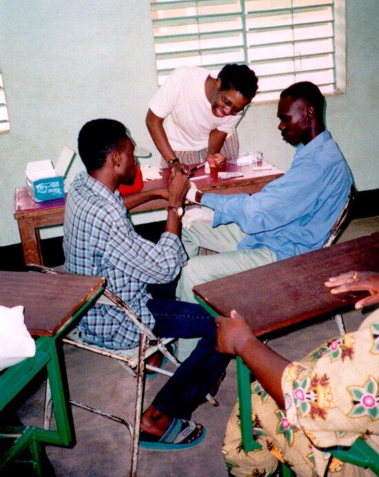 patienter, lægen, kontor, Koupela, Burkina Faso, vestlige, Afrika
