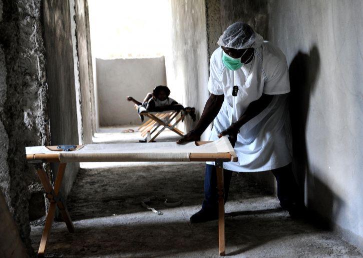 personnel, déplacer, des lits, le choléra, le traitement, le centre
